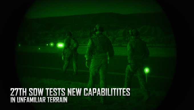27th SOW Tests new capabilities