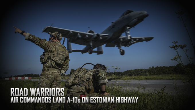 Air Commandos land A-10s on Estonian highway