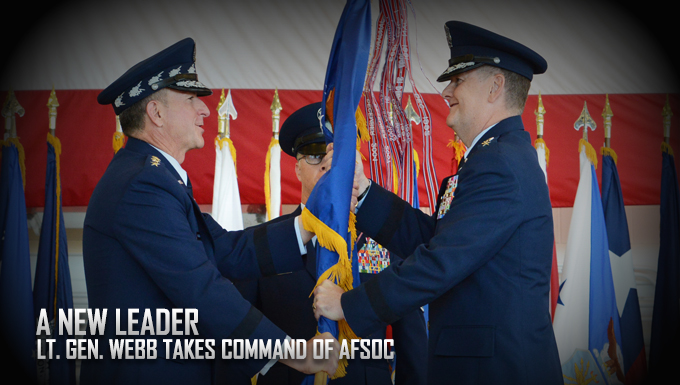 Webb takes command of AFSOC